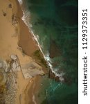 aerial view of the beach on a... | Shutterstock . vector #1129373351