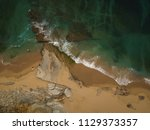aerial view of the beach on a... | Shutterstock . vector #1129373357
