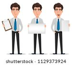 business man in office style...   Shutterstock .eps vector #1129373924