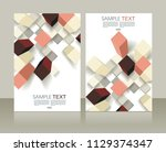retro design templates for a4... | Shutterstock .eps vector #1129374347