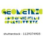 modern geometric typography... | Shutterstock .eps vector #1129374905