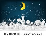 people relax and family in the... | Shutterstock .eps vector #1129377104