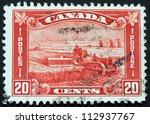 canada   circa 1935  a stamp...   Shutterstock . vector #112937767