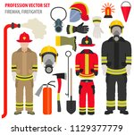 profession and occupation set.... | Shutterstock .eps vector #1129377779