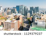 aerial view of seoul myeongdong ... | Shutterstock . vector #1129379237