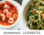 thai food in thailand which... | Shutterstock . vector #1129381721