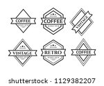 vintage logos design templates... | Shutterstock .eps vector #1129382207