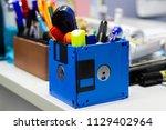 recycle floppy disk  creative... | Shutterstock . vector #1129402964