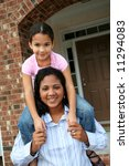 a mixed race mother and daughter | Shutterstock . vector #11294083