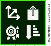 set of 4 arrows filled icons...   Shutterstock .eps vector #1129413935