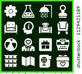 set of 16 other filled icons...   Shutterstock .eps vector #1129421189