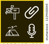 set of 4 tool outline icons...   Shutterstock .eps vector #1129430045