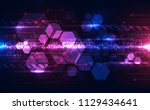 vector abstract futuristic... | Shutterstock .eps vector #1129434641