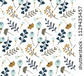 modern seamless pattern with... | Shutterstock .eps vector #1129435457