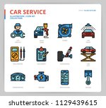 car service icon set | Shutterstock .eps vector #1129439615