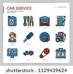 car service icon set   Shutterstock .eps vector #1129439624