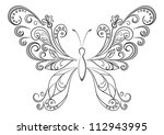 abstract butterfly  black...