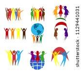 abstract people vector design... | Shutterstock .eps vector #1129441031