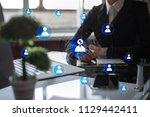 organisation structure chart ... | Shutterstock . vector #1129442411