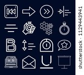 interface icon set   outline... | Shutterstock .eps vector #1129443941