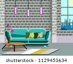 room interior vector... | Shutterstock .eps vector #1129453634
