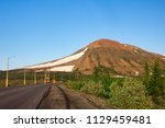 tundra and mountains of... | Shutterstock . vector #1129459481