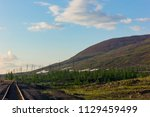 tundra and mountains of... | Shutterstock . vector #1129459499
