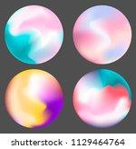 holpgraphic gradient sphere ... | Shutterstock .eps vector #1129464764