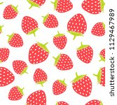 seamless pattern and ripe red... | Shutterstock .eps vector #1129467989
