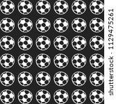 sport pattern football vector... | Shutterstock .eps vector #1129475261
