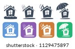 a set of insurance and... | Shutterstock .eps vector #1129475897