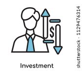 investment icon vector isolated ... | Shutterstock .eps vector #1129476314