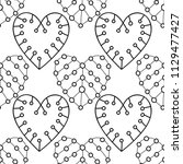 decorative hearts. black and... | Shutterstock .eps vector #1129477427