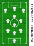 vector soccer field with the...   Shutterstock .eps vector #1129482671
