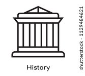 history icon vector isolated on ...
