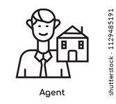 agent icon vector isolated on... | Shutterstock .eps vector #1129485191