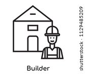 builder icon vector isolated on ... | Shutterstock .eps vector #1129485209