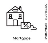 mortgage icon vector isolated... | Shutterstock .eps vector #1129487327