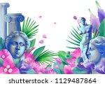 exotic design with venus de... | Shutterstock . vector #1129487864