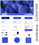 light blue vector ui kit in...