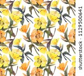 floral seamless pattern with...   Shutterstock . vector #1129500641