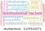 institutional racism word cloud ... | Shutterstock .eps vector #1129510271