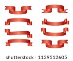 red glossy ribbon vector...   Shutterstock .eps vector #1129512605