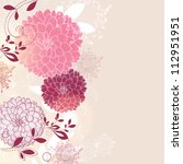 floral background with flower... | Shutterstock .eps vector #112951951