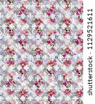 abstract colorful checkered... | Shutterstock . vector #1129521611
