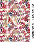 abstract colorful checkered...   Shutterstock . vector #1129521755