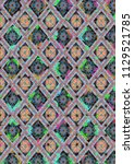 abstract colorful checkered...   Shutterstock . vector #1129521785