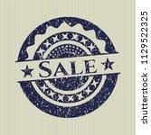blue sale grunge stamp | Shutterstock .eps vector #1129522325