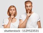 horizontal shot of two... | Shutterstock . vector #1129523531