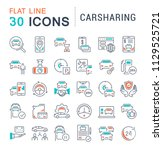 set of vector line icons  sign... | Shutterstock .eps vector #1129525721